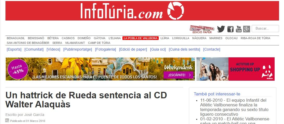 Un Hat-trick De Rueda Sentencia Al CD Walter Alaquás