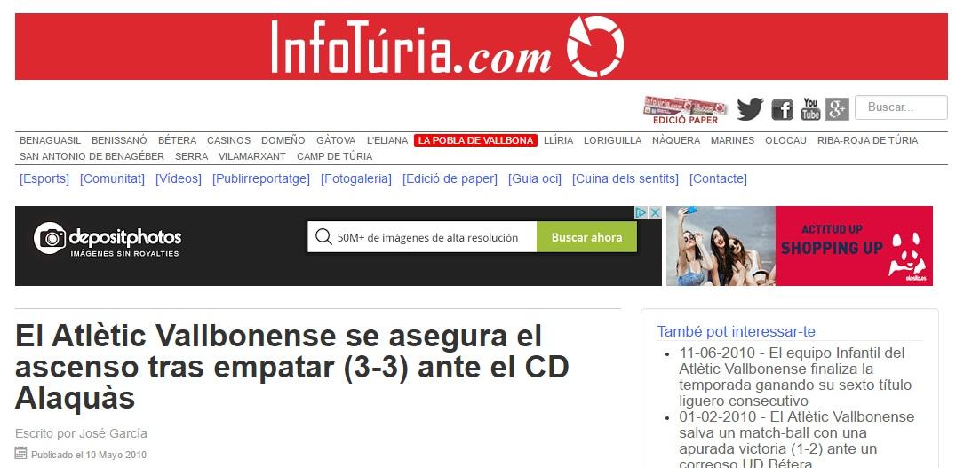 El Atlétic Vallbonense Se Asegura El Ascenso Tras Empatar (3-3) Ante El CD Alaquás