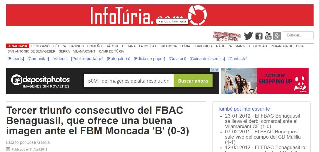 Tercer Triunfo Consecutivo Del FBAC Benaguacil, Que Ofrece Una Buena Imagen Ante El FBM Moncada 'B' (0-3)
