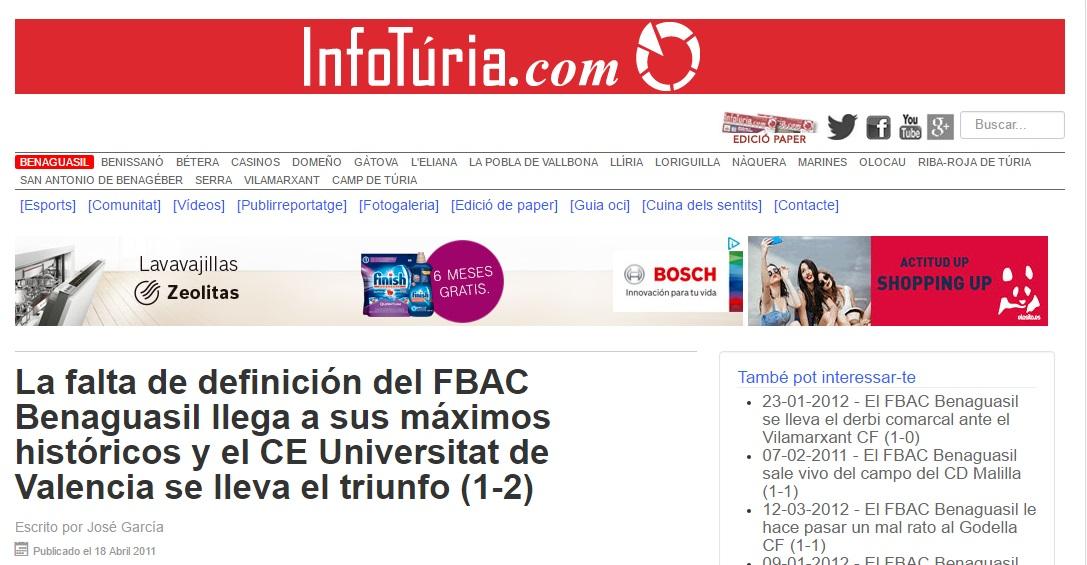 La Falta De Definición Del FBAC Benaguacil Llega A Sus Máximos Históricos Y El CE Universitat De Valencia Se Lleva El Triunfo (1-2)