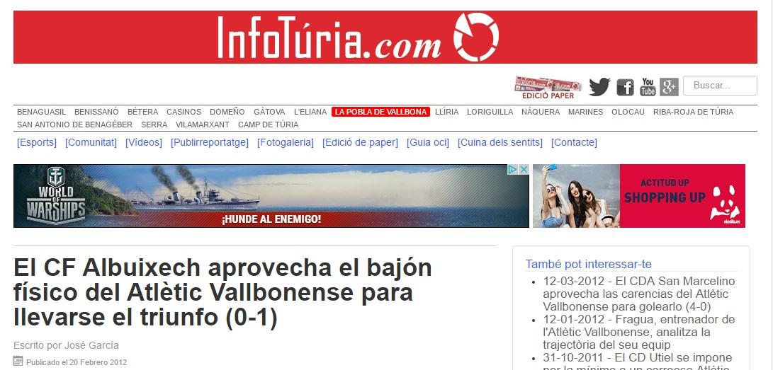 El CF Albuixech Aprovecha El Bajón Físico Del Atlétic Vallbonense Para Llevarse El Triunfo (0-1)
