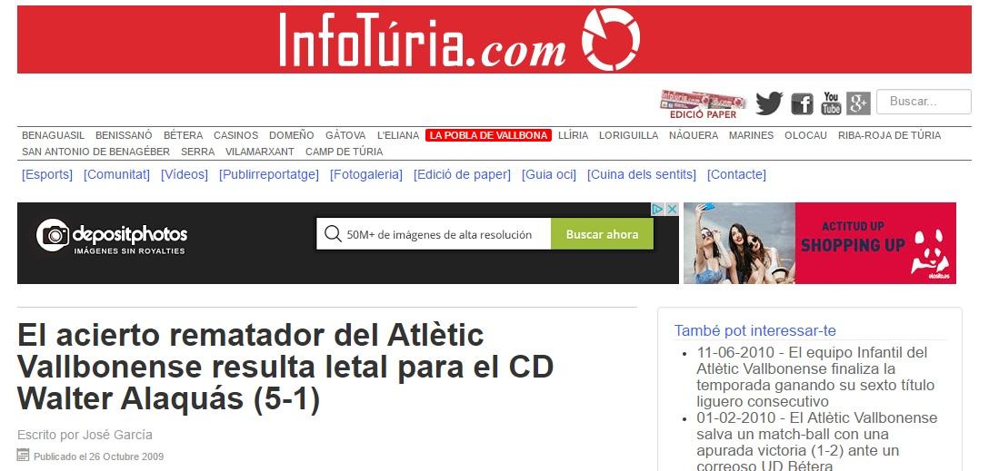 El Acierto Rematador Del Atlétic Vallbonense Resulta Letal Para El CD Walter Alaquás (5-1)