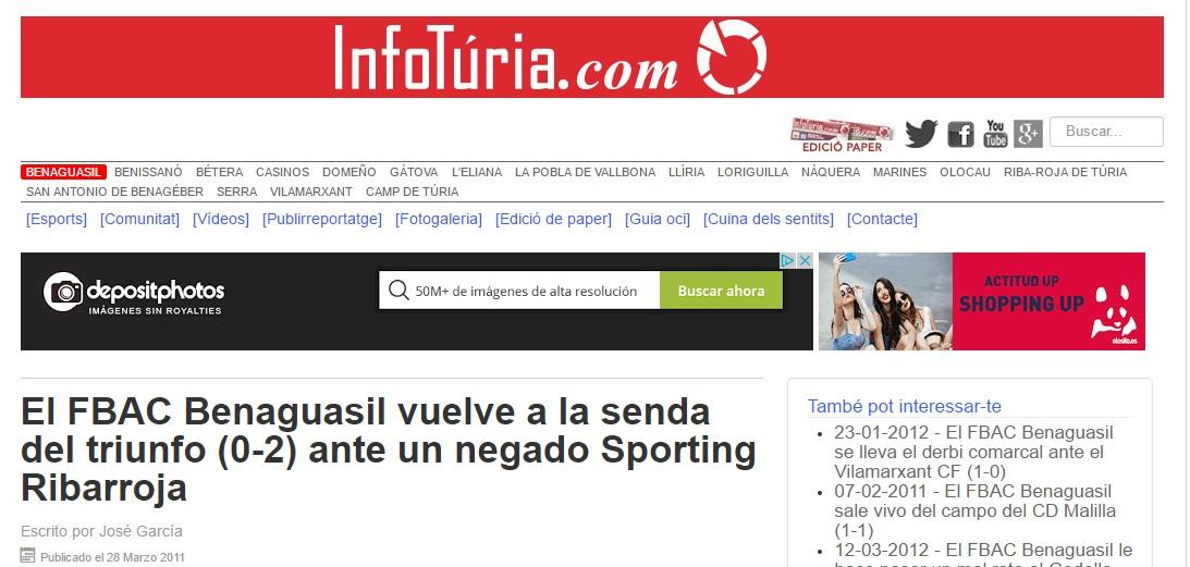 El FBAC Benaguacil Vuelve A La Senda Del Triunfo (0-2) Ante Un Negado Sporting Ribarroja
