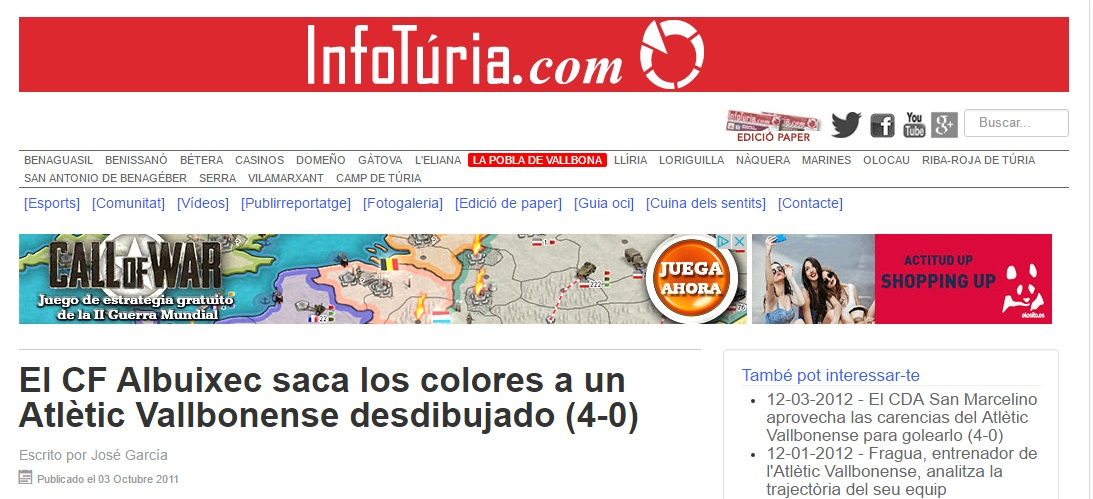 El CF Albuixec Saca Los Colores A Un Atlétic Vallbonense Desdibujado (4-0)