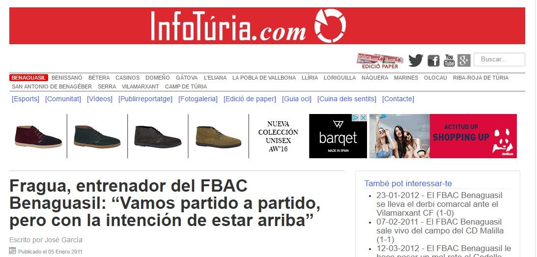 """Fragua, Entrenador Del FBAC Benaguacil: """"Vamos Partido A Partido, Pero Con La Intención De Estar Arriba"""""""