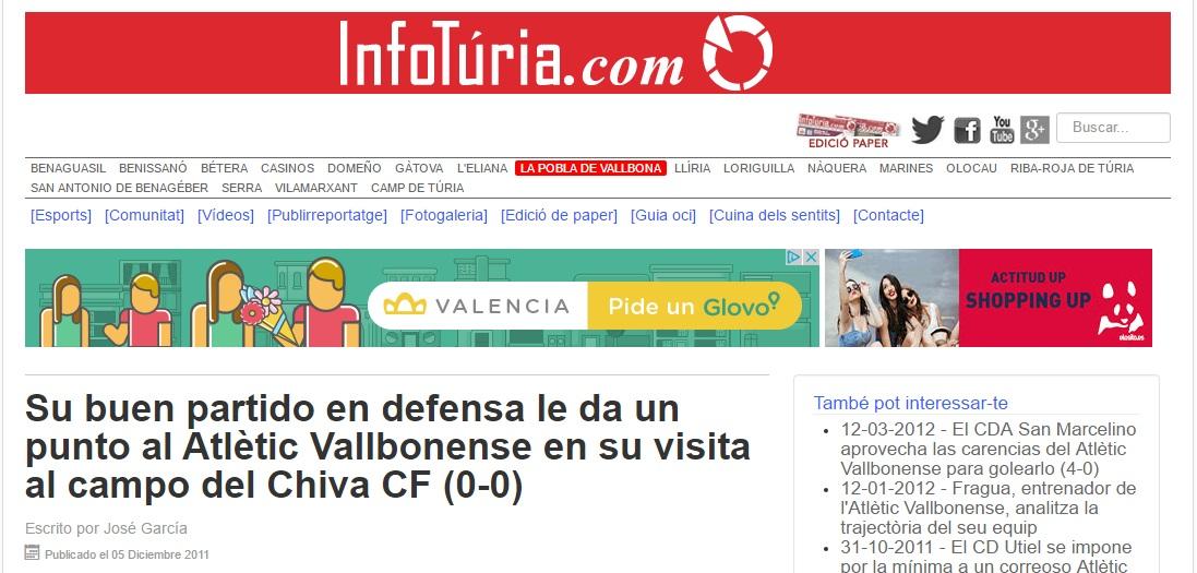 Su Buen Partido En Defensa Le Da Un Punto Al Atlétic Vallbonense En Su Visita Al Campo Del Chiva CF (0-0)