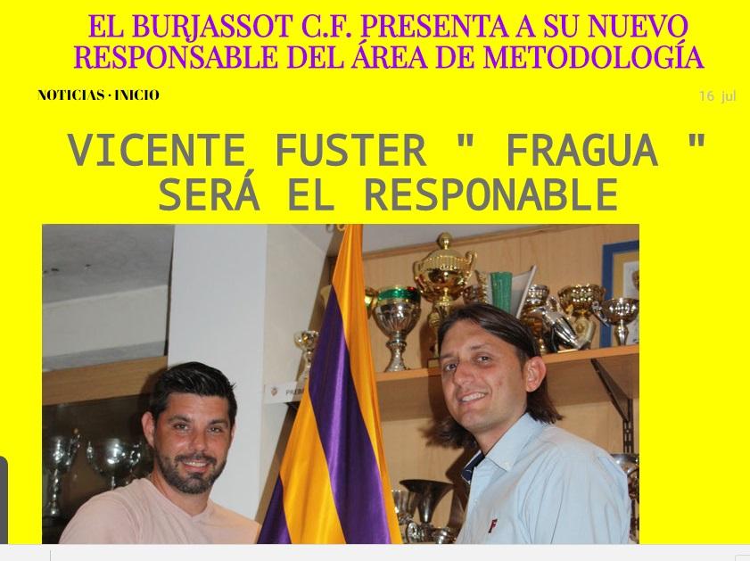 El Burjassot C.F. Presenta A Su Nuevo Responable Del Área De Metodología