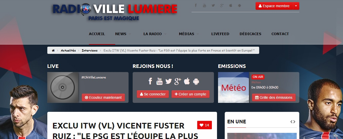 Prensa Francesa La Web Radio Villelumiere
